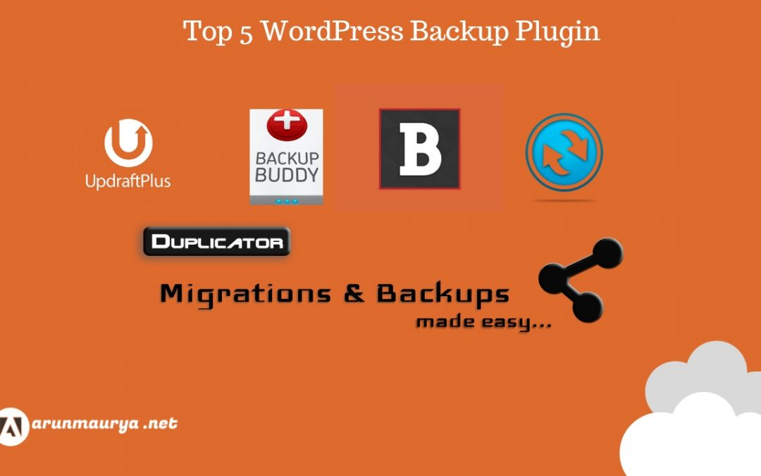 Top 5 Plugins for WordPress Website Backup